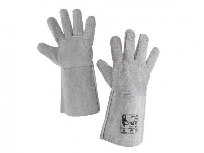 kožené svářečské rukavice SYRO canis