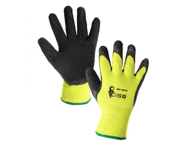 zimní pracovní rukavice
