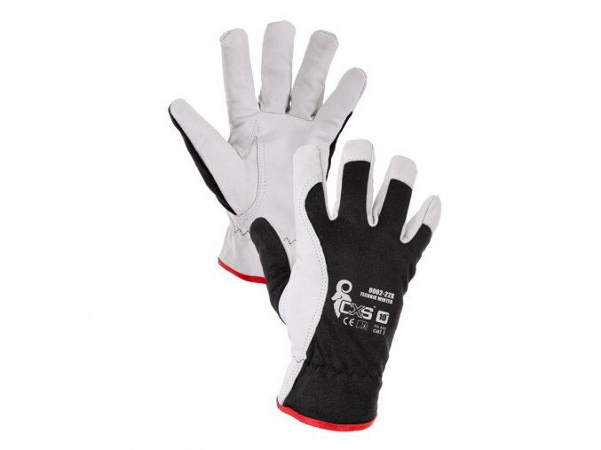 zimni monterske rukavice technik