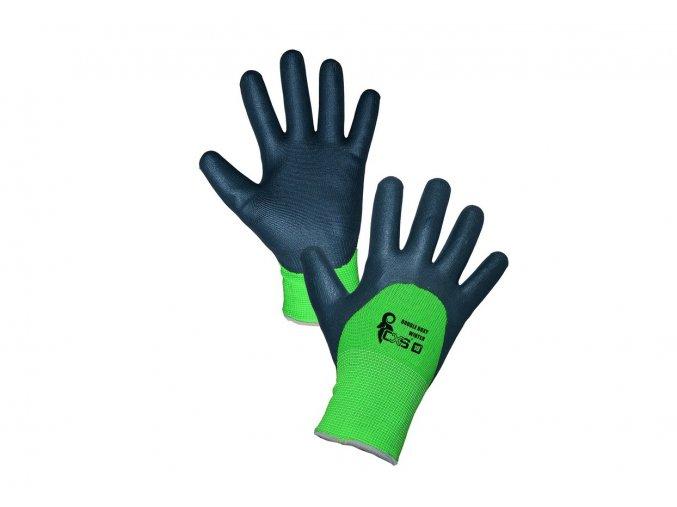 zimni rukavice double roxy winter nitril