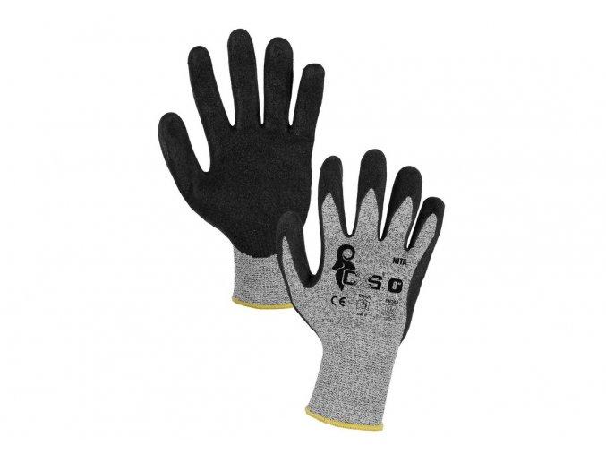 rukavice proti rezu piskovane macene akce nita canis