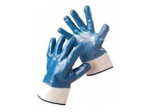 Kombinované pracovní rukavice máčené v nitrilu