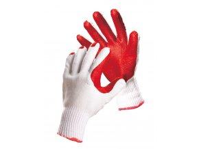 Pletené pracovní rukavice v latexu Hs-04