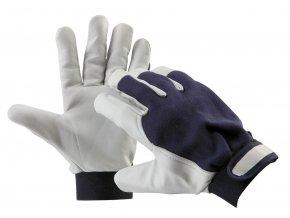 Montérské pracovní rukavice pelican blue