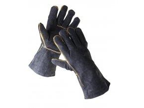 Kožené svářečské rukavice Sandpiper černé