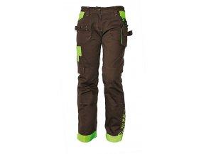 yowie dámské pracovní kalhoty hnědé