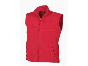 Fleecová pracovní vesta červená