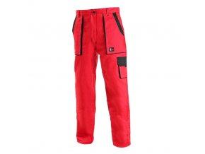 dámské monterkové pracovní kalhoty canis červene