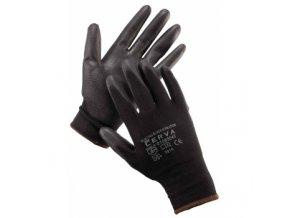 Pracovní rukavice bunting black černé polyester