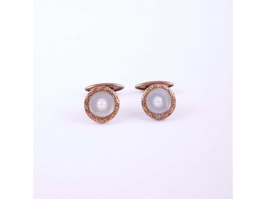 Manžetové knoflíčky perleťové
