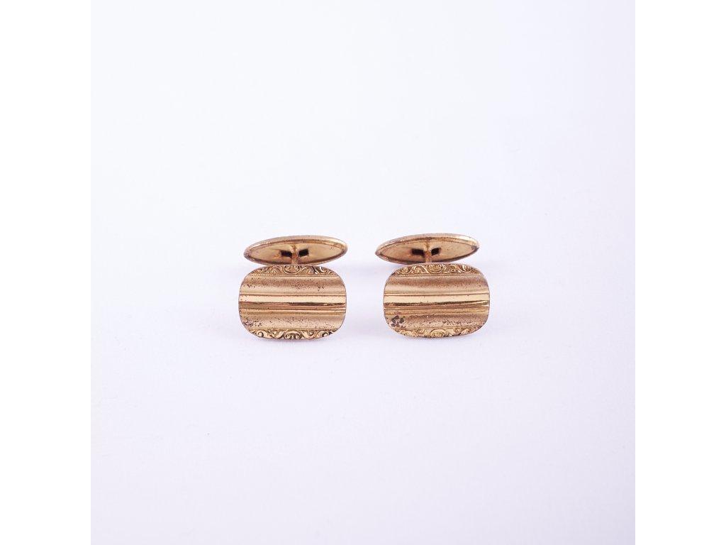 Manžetové knoflíčky zlatavé