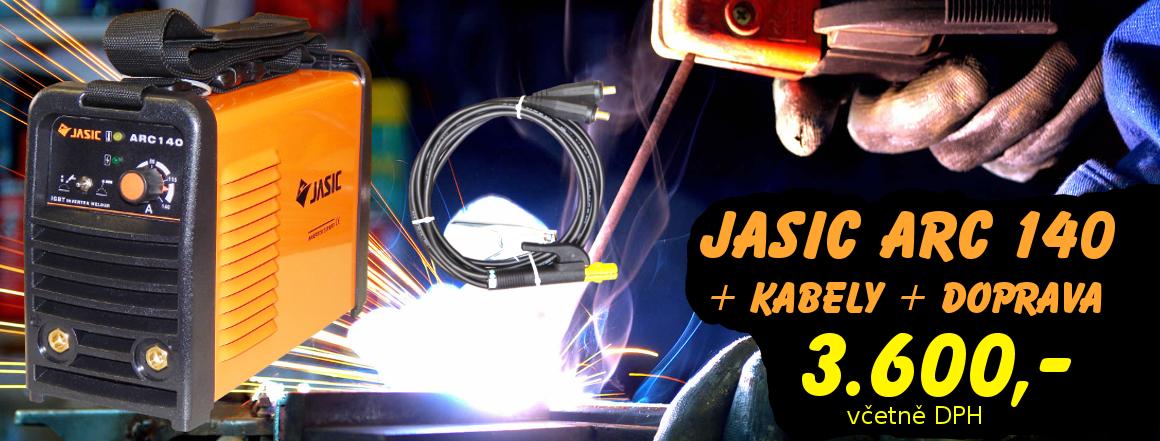 Svařovací invertor JASIC ARC 140 včetně kabelů