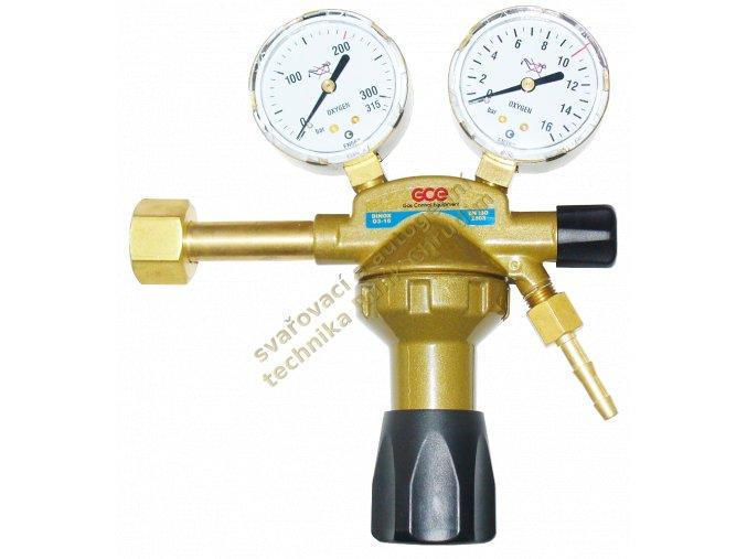 Redukční ventil kyslík GCE DINCONTROL