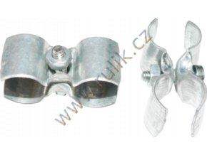 Šroubovací spona na spojení dvou hadic