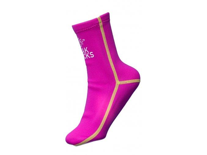 Oak socks neoprénové ponožky růžové