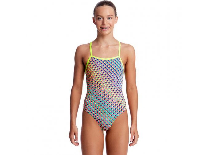 funkita glitter girl girls strapped in one piece 1