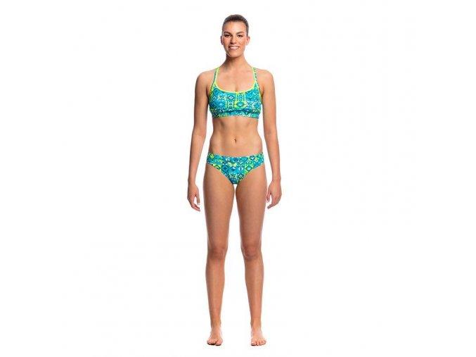 funkita lime light bikini ladies sports top 4