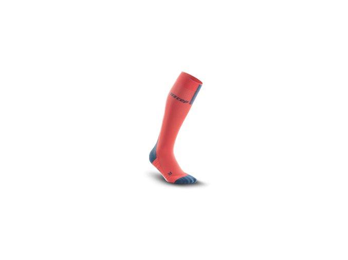 run compression socks 3 0 coral grey