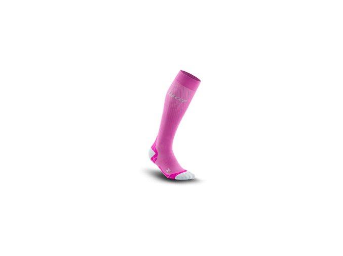 run ultralight compression socks electricpink lightgrey