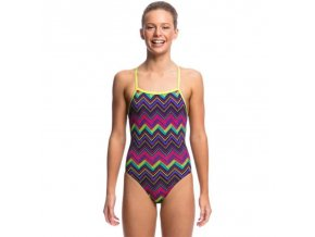 funkita knitty gritty girls strapped in one piece swimsuit