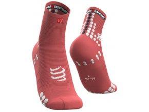 pro racing socks v3 0 run high coral t1