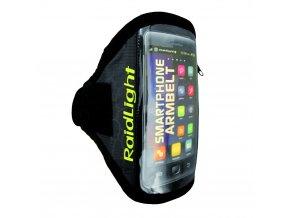 pouzdro na mobilni telefon raidlight smartphone arm belt black lime green 111792