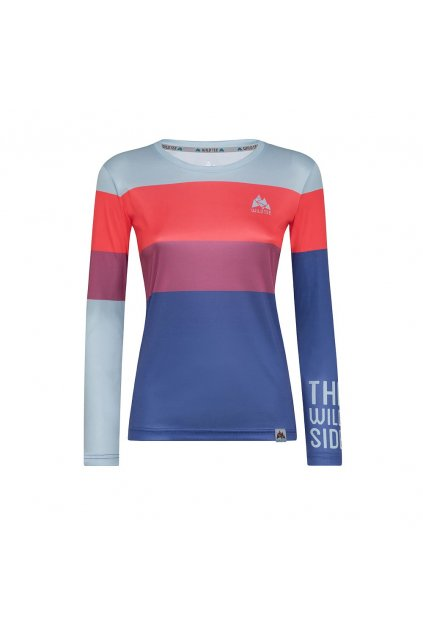 colorblock red weomen long sleeve