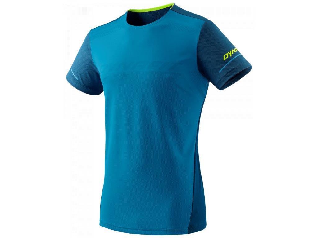 Pánské tričko s krátkým rukávem Alpin modra