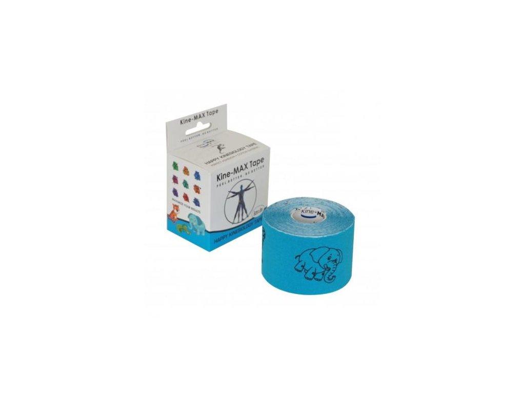 kinemax happy tape blue kinesiologicky tape s obrazky m