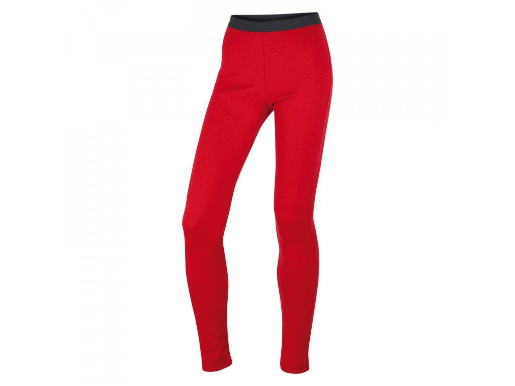 Merino termoprádlo Kalhoty dámské červená