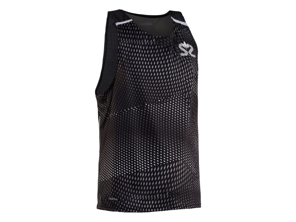 SALMING Run Breeze Tank Men Black AOP/Black Melange