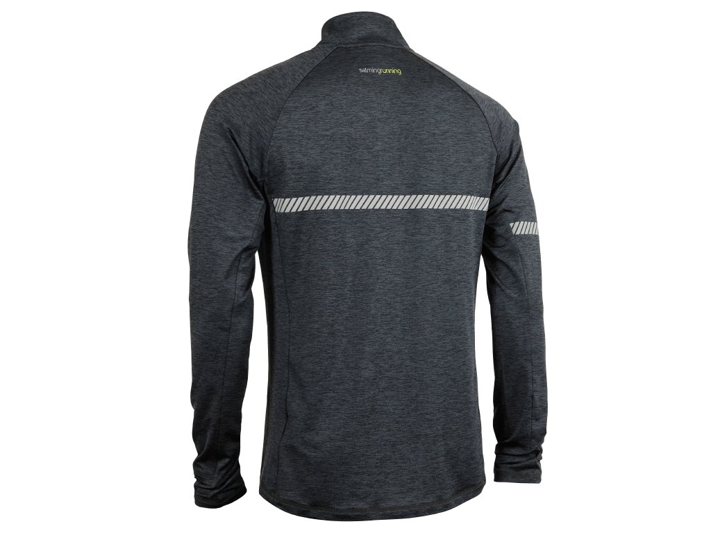 SALMING Run Phase Halfzip Men Dark Grey Melange