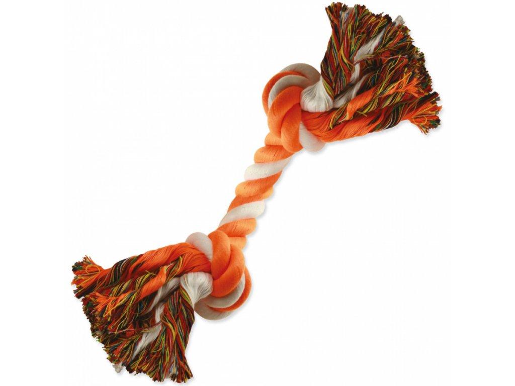 uzel dog fantasy bavlneny oranzovo bily 2 knoty 20 cm original