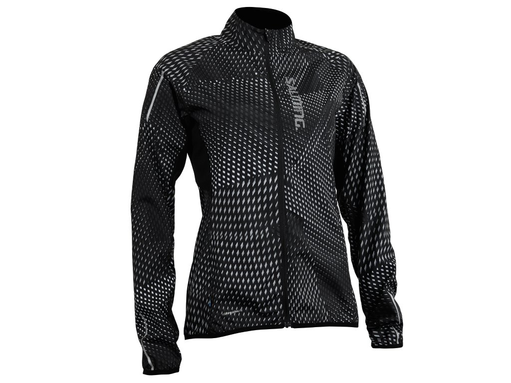 SALMING Run Ultralite Jacket 3.0 Women Black AOP