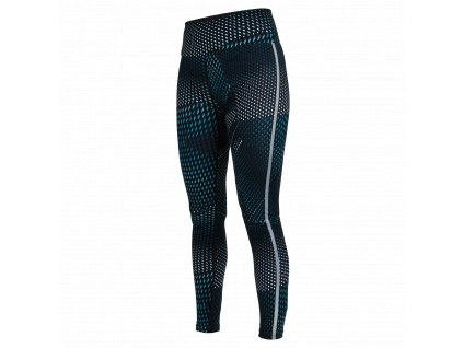 SALMING Run Split Tights Women Deep Teal AOP