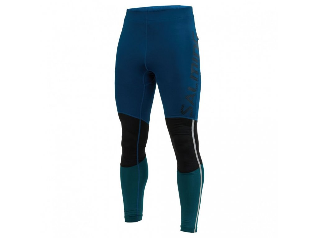 grand tights men posiedon blue black deep teal