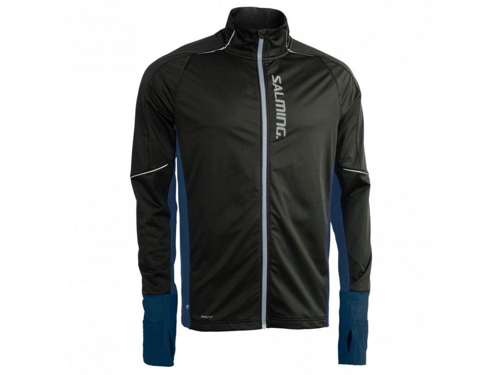 thermal wind jacket men black blue melange