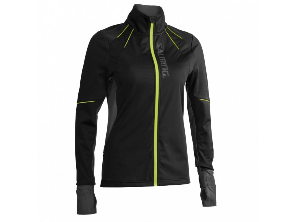 thermal wind jacket women black black melange
