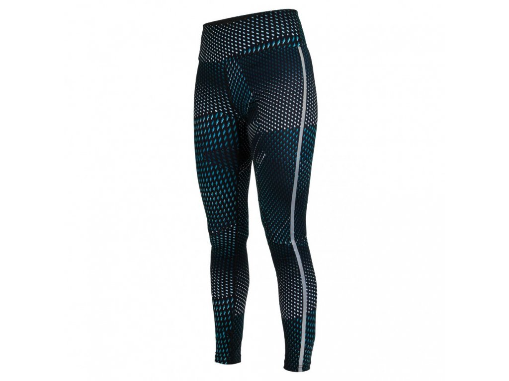 split tights women deep teal aop