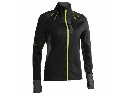 thermal wind jacket women black black melange