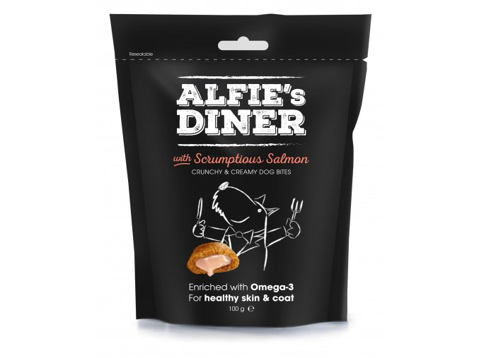 Alfies Diner With Scrumptious Salmon 100G 7 50826 005672