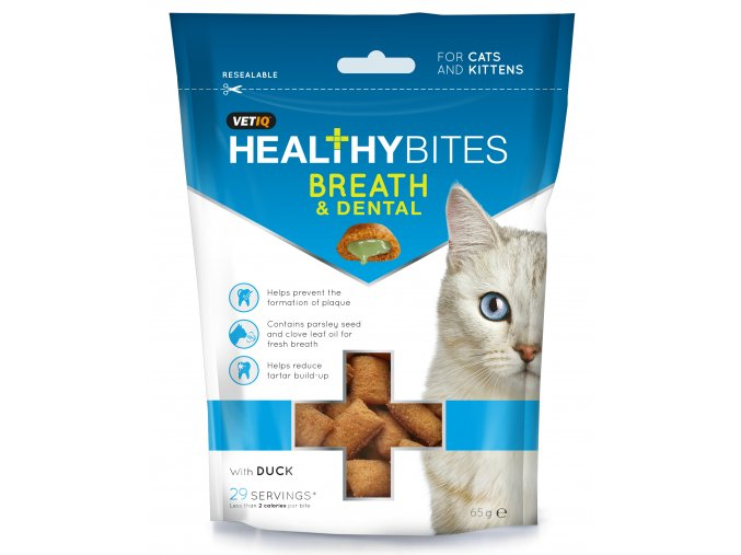 Healthy Bites Breath Dental For Cats Kittens 65G 7 50826 005023