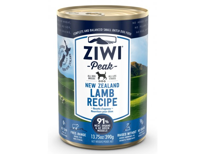 large 169033 ZIWIPEAK DOG CAN LAMB 390G