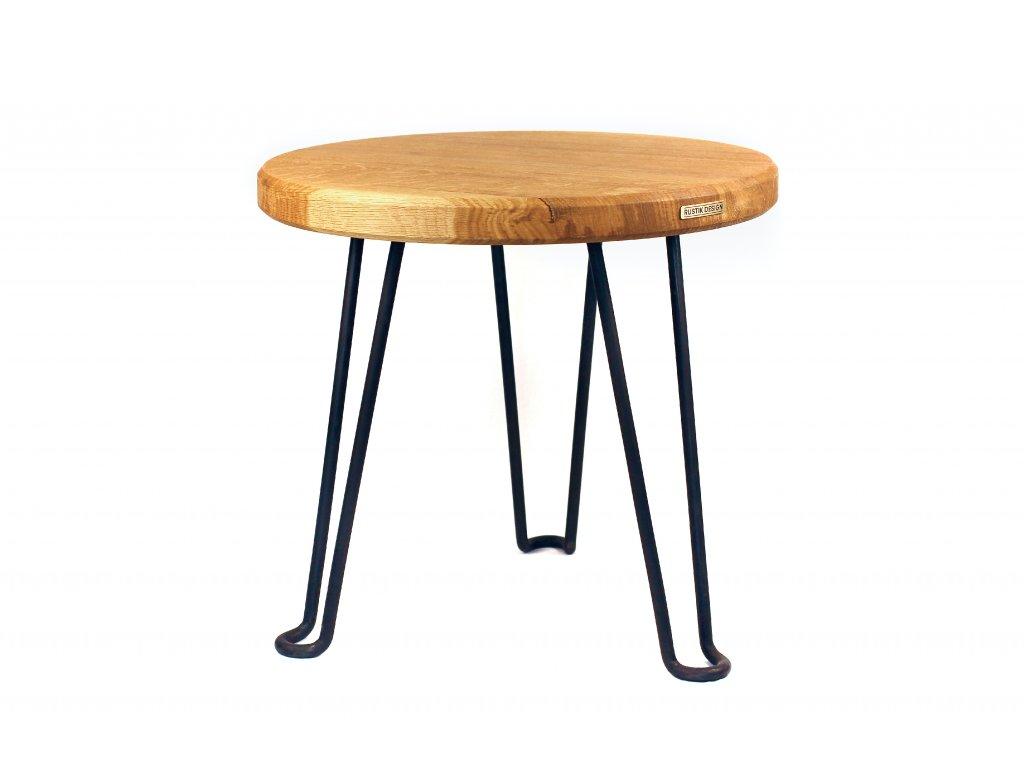 dubovy odkladaci stolek rustik