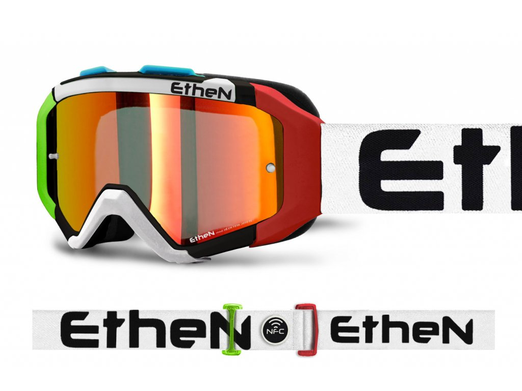 ARES 0717 MX okuliare ITALIA s červeným zrkadlovým sklom TOP MODEL