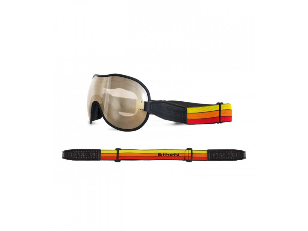 Cafe Racer CR0106 motocyklové okuliare so zrkadlovým sklom