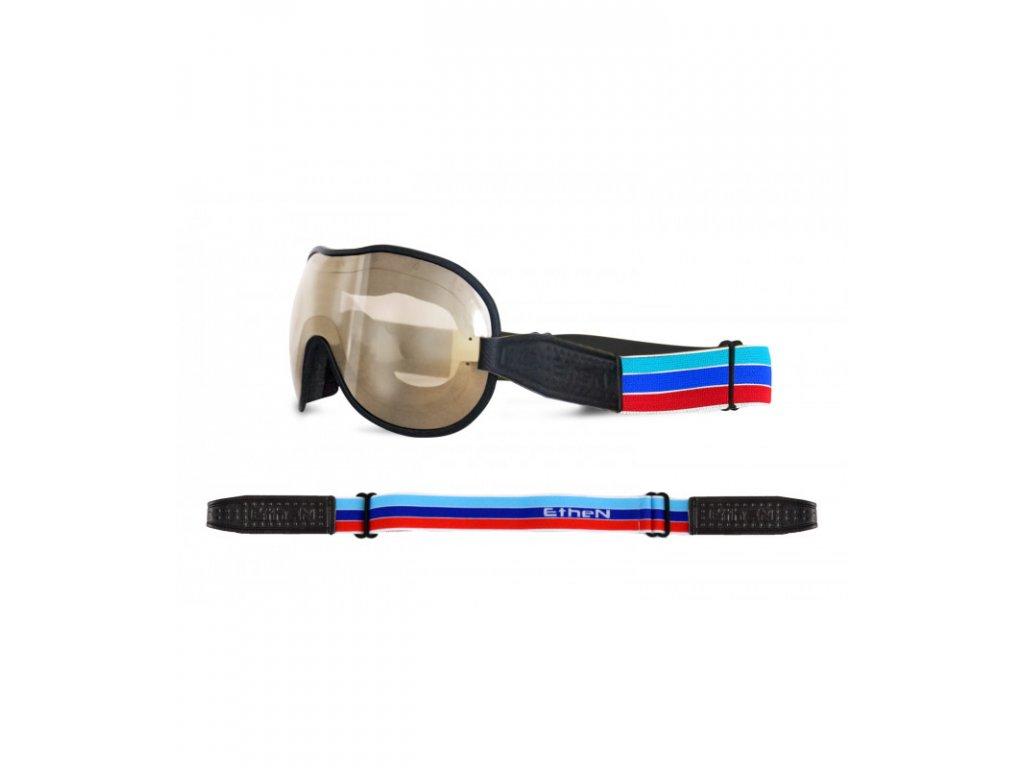 Cafe Racer CR0107 motocyklové okuliare so zrkadlovým sklom