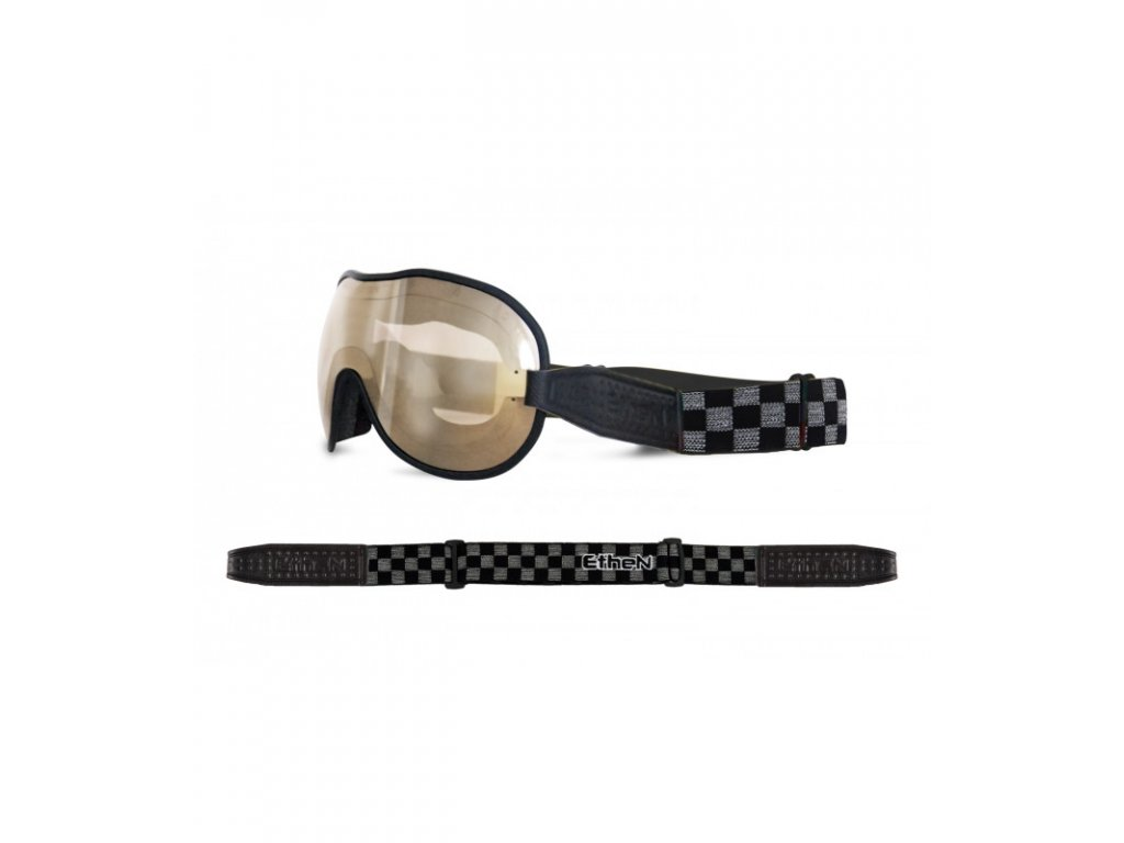 Cafe Racer CR0112 motocyklové okuliare so zrkadlovým sklom