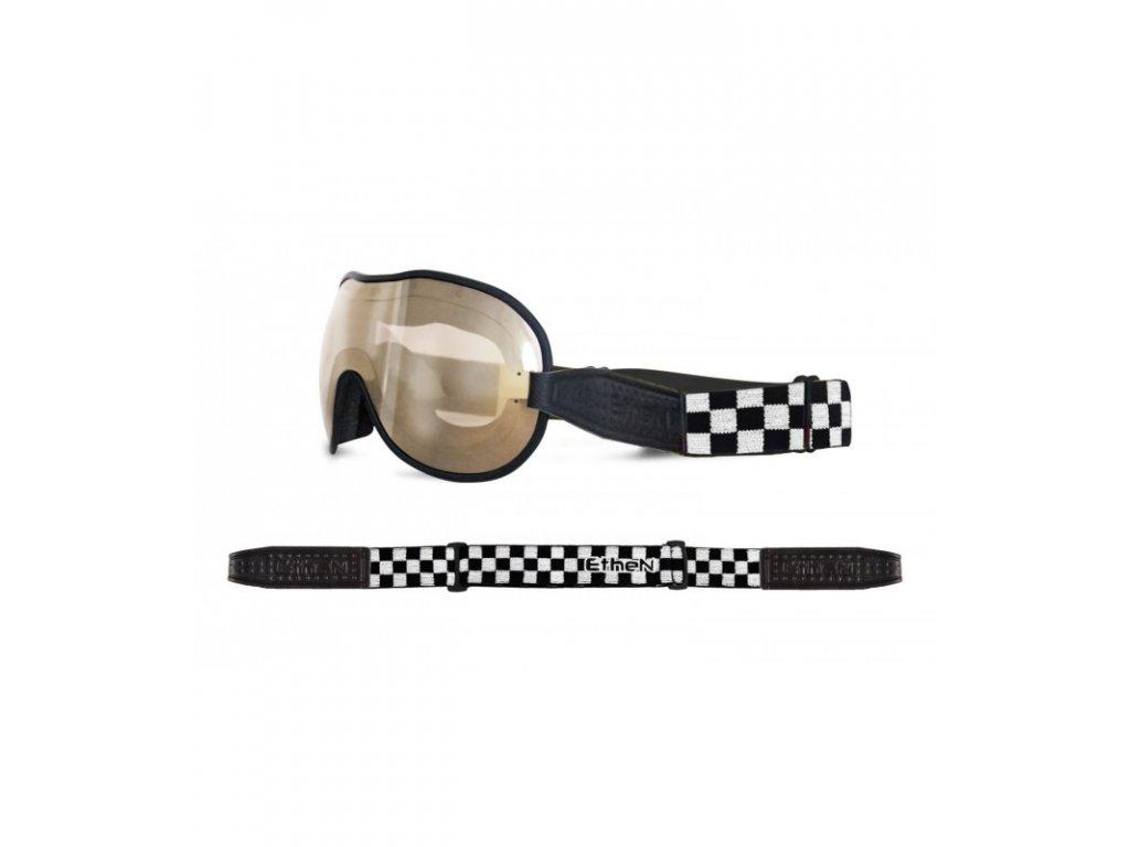Cafe Racer CR0115 motocyklové okuliare so zrkadlovým sklom