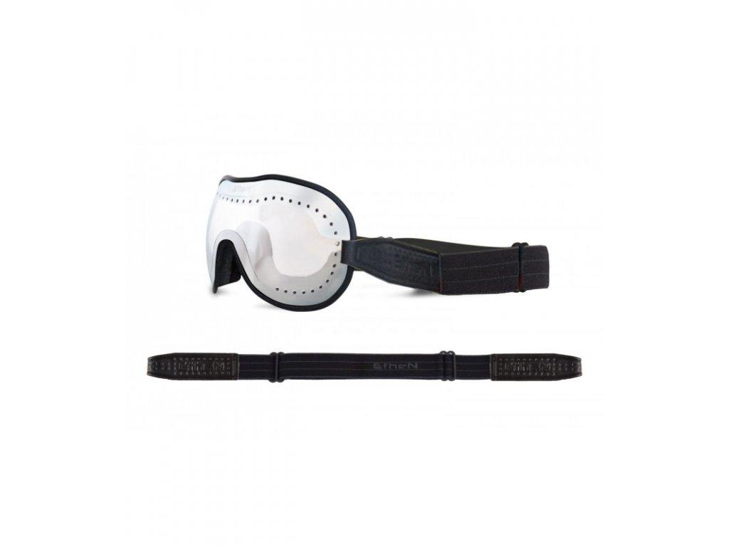 Cafe Racer CR0117 motocyklové okuliare so zrkadlovým sklom